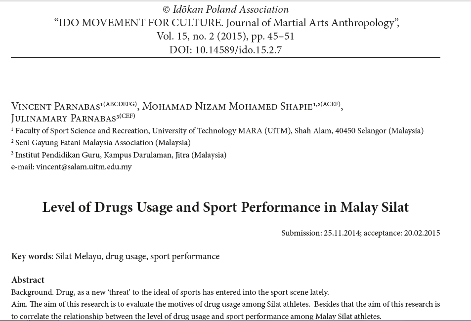 Drugs Usage in Silat